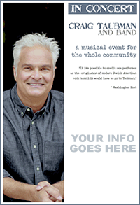 CraigTaubman-In-Concert-Flyer