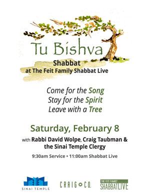 Tu Bishvat Shabbat Live at Sinai Temple