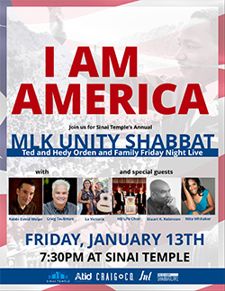 I Am America: Friday Night Live Unity Shabbat
